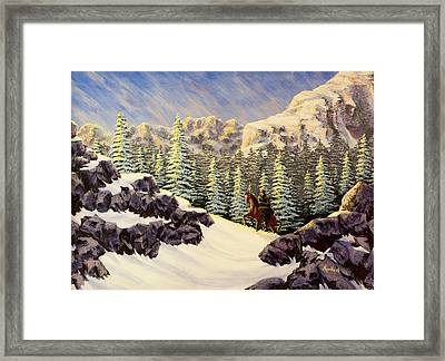 Late Crossing Framed Print by Jack Malloch