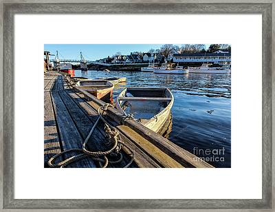Late Day Sun In Perkins Cove Framed Print by Joe Faragalli
