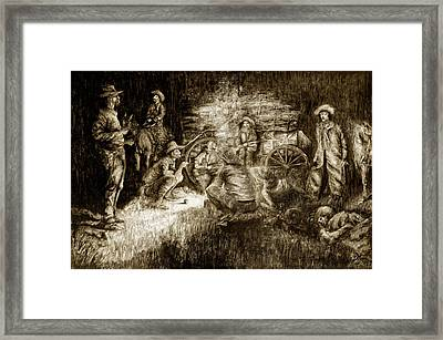 Late Dinner Framed Print