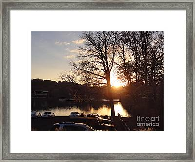 Late Fall At The Station Framed Print
