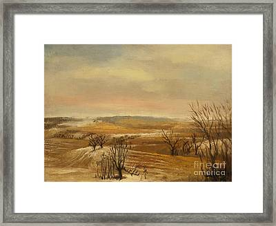 Late Fall In The Midwest Framed Print by Art By Tolpo Collection
