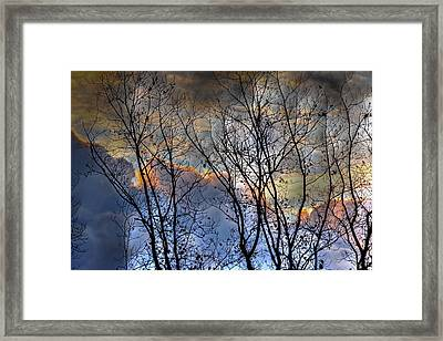 Late Fall Sunrise Framed Print