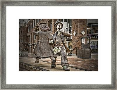 Late For Interurban  Framed Print by Joanna Madloch