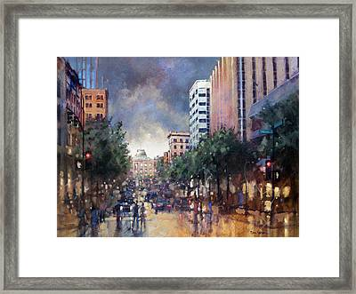 Late Friday Afternoon Showers Framed Print