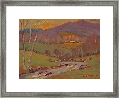 Framed Print featuring the painting Late In The Season by Len Stomski