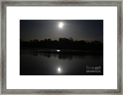 Late Night At The Lake Framed Print
