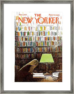 Late Night At The Library Framed Print by Arthur Getz