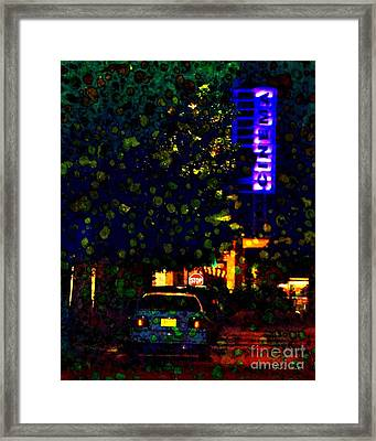 Late Night Movie Framed Print
