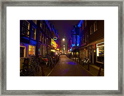 Framed Print featuring the photograph Late Night Neon  by Jonah  Anderson