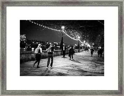 Late Night Run Framed Print