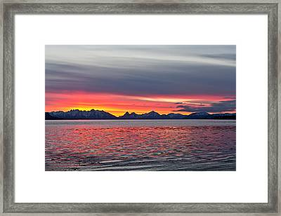Late November Sunset Framed Print