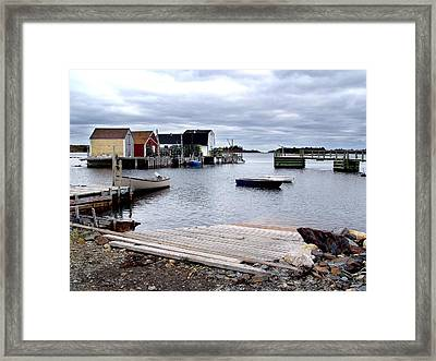 Late October In Blue Rocks Framed Print by George Cousins
