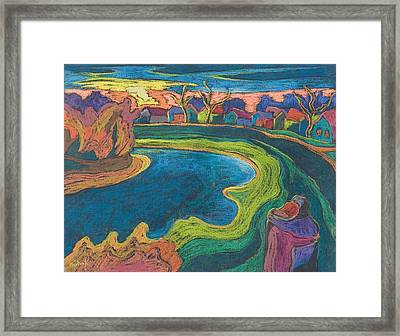 Late Rendezvous, 2006 Pastel On Paper Framed Print