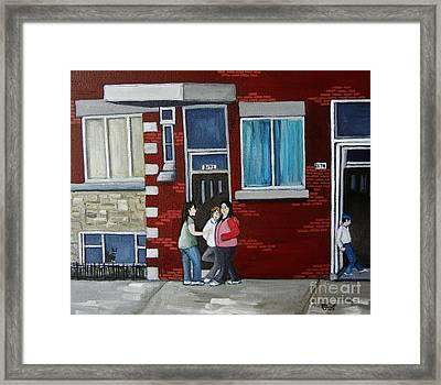 Late Saturday Afternoon Framed Print by Reb Frost