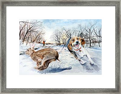 Late Season Rabbit 2 Framed Print