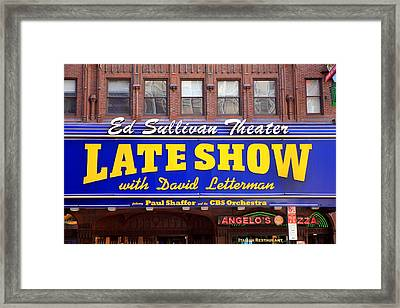 Late Show New York Framed Print by Valentino Visentini