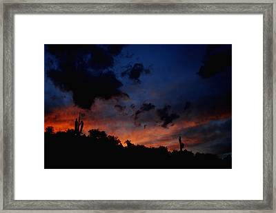 Late Sky Framed Print by Alfredo Martinez