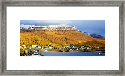Late Spring In Faroe Islands Panorama Framed Print