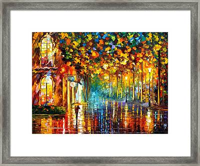 Late Stroll Miami Framed Print