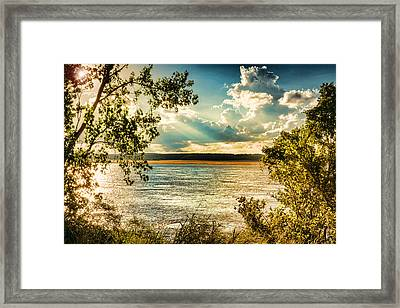 Late Summer Afternoon On The Mississippi Framed Print by Jon Woodhams