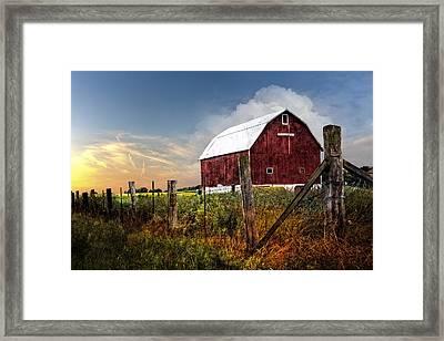 Late Summer Framed Print by Debra and Dave Vanderlaan