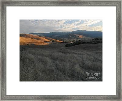 Late Summer Evening In The Santa Teresa Hills Framed Print