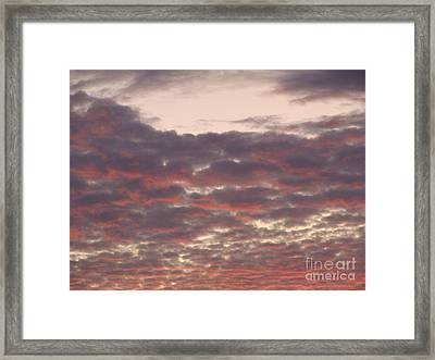 Late Summer Evening Sky Framed Print