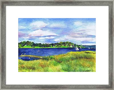 Late Summer Marsh Oyster Bay Framed Print
