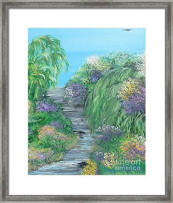 Late Summer On The White River Framed Print by Alys Caviness-Gober