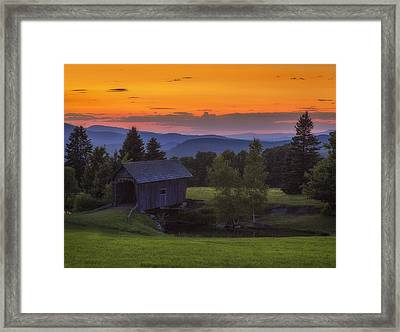 Late Summer Sunset Framed Print
