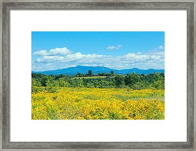 Late Summer View Of Mount Mansfield Vermont Framed Print