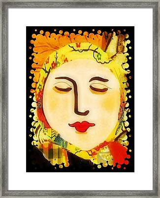 Framed Print featuring the digital art Late Summer Woman by Alexis Rotella