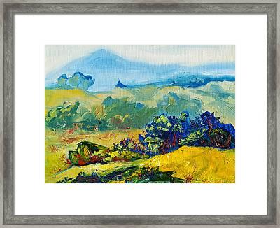 Late Summmer Landscape Framed Print