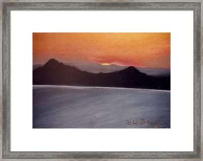 Late Sunset Framed Print