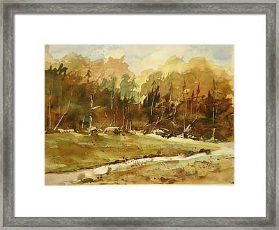 Late Thaw Framed Print by John McDonald