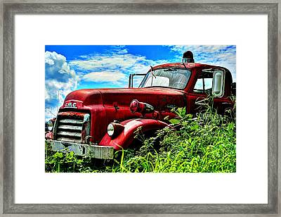 Late To The Fire Framed Print