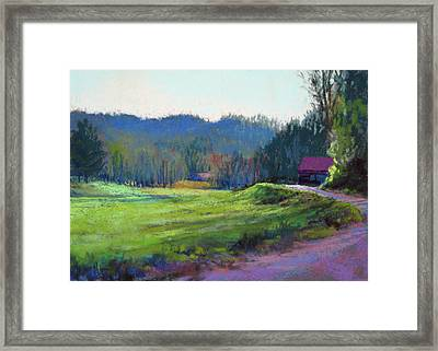 Late Valley Light Framed Print by Marsha Savage