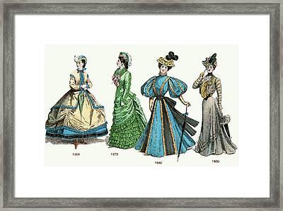 Late Victorian Ladies Fashion 19th Framed Print