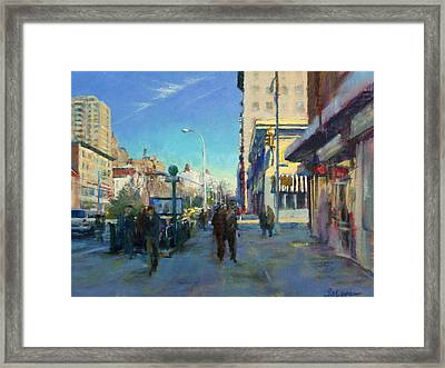 Late Winter Morning On Broadway Framed Print
