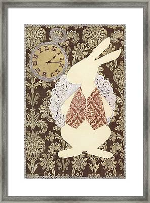 Late? With The White Rabbit Framed Print by Savannah Bertozzi