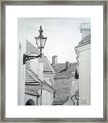 Latern Framed Print by Jackie Mestrom