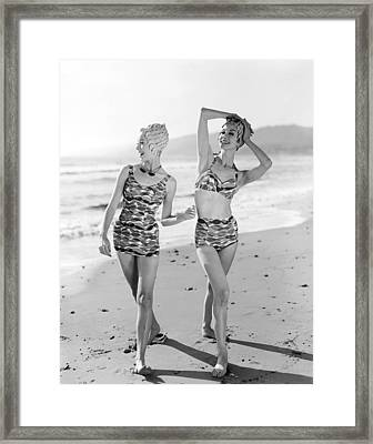Latest Bathing Suit Fashion Framed Print