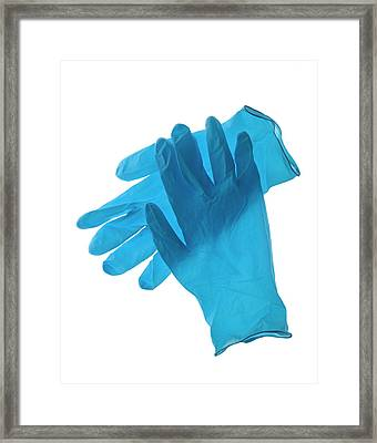 Latex Gloves Framed Print