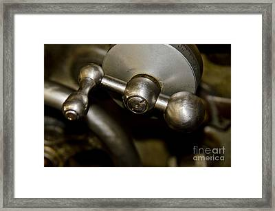Lathe Controls Framed Print by Wilma  Birdwell