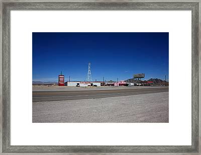 Lathrop Wells Nevada Framed Print by Frank Romeo