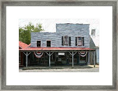 Latimore's Store - Perryville Ky Framed Print by Thia Stover