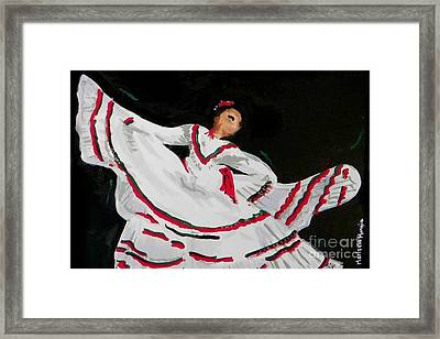 Framed Print featuring the painting Latin Dancer by Marisela Mungia
