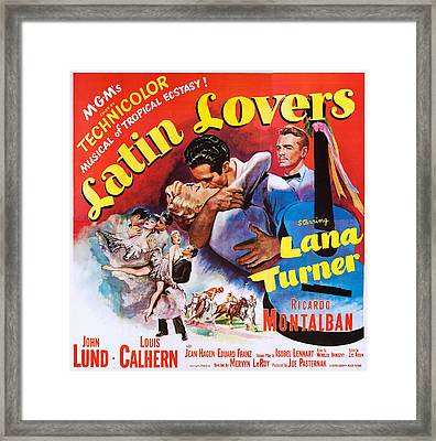 Latin Lovers, Us Poster Art Framed Print by Everett