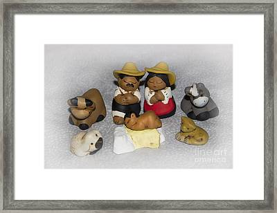 Latin Nativity Scene Framed Print