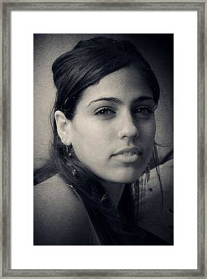 Framed Print featuring the photograph Latina Beauty by Zinvolle Art